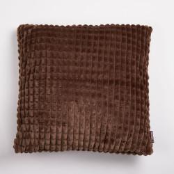 Couro de almofada coralina wafle marron