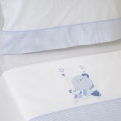 Conjunto de cama berço 121 bco / azul