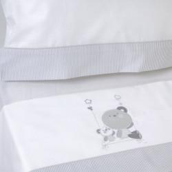 Conjunto de cama berço 121 bco / cinza
