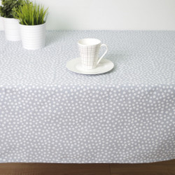 Toalha de mesa à prova de manchas eco dory white