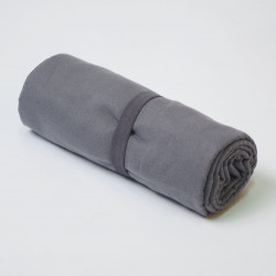 Toalha de microfibra de chumbo cinza