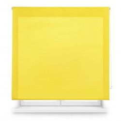 Tecido amarelo translúcido enrolável