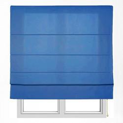 Cortina de haste lisa azul Turin