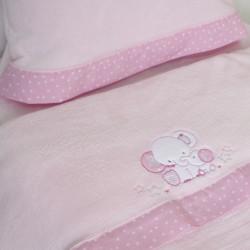 Conjunto de lençóis de berço coral 084 rosa