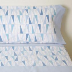 Conjunto de lençóis de capa azul