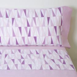 Conjunto de lençóis manto rosa
