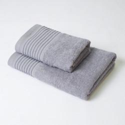 Conjunto de toalhas kate 2p cinza alumínio