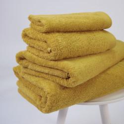 Toalha de algodão orgânico 600 gr / m2 mostarda