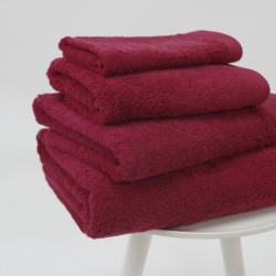 Toalha de algodão orgânico 600 gr / m2 bordô