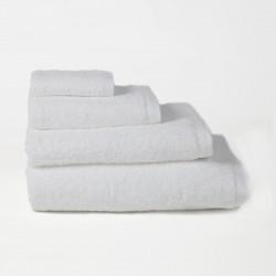 Toalha de algodão penteado branco 500 gr / m2