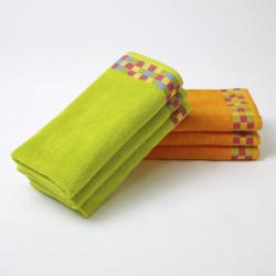 Pacote de 3 toalhas turco de cozinha com borda jacquard xadrez 24