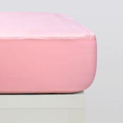 Lençóis justos de malha de algodão orgânico rosa