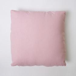 Capa de almofada de lona lisa 43x43 c / rosa