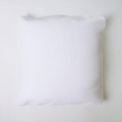 Capa de almofada de favo de mel de algodão branco