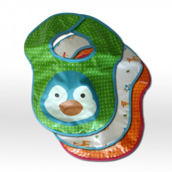 Pinguim bibs set 3