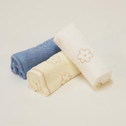 Toalete toalhas 3p. flor