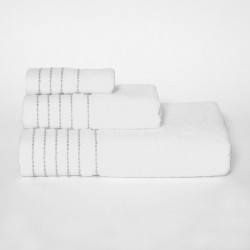 Listra branca toalhas set / gray