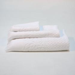 Branco jacquard toalhas set 991