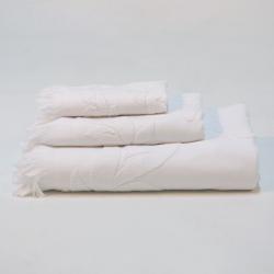 Branco jacquard toalhas set 994