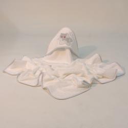 Capa de banho estrela branca-acinzentada