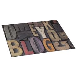 Vinil letras tapete 45x75 madeira