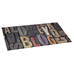 Madeira do vinil letras tapete 50x110