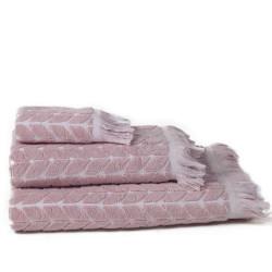 Rosa tang jacquard toalha